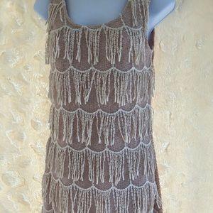 A'reve vintage inspired flapper dress blush pink S